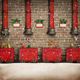 Santa Gift Factory Background Christmas Backdrops DBD-19305