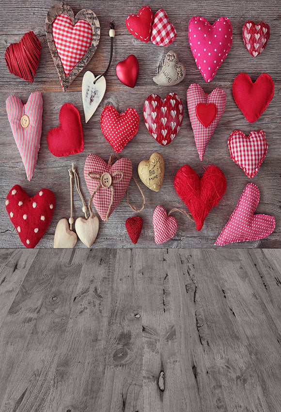 Red Love Heart Backdrops for Photography Sd-2668