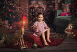 Christmas Fireplace Parlor Decorations Backdrop for Photography DBD-19215