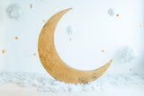 Wood Moon Background Cute Backdrops for Children Photography IBD-19287