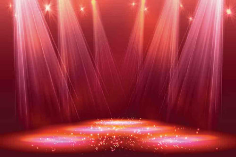 Prom & Homecoming Backdrop Stage lighting Red Background YY00231-E