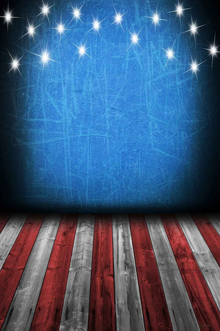 Indepedence Day Patriotic Wooden Photo Backdrop YY00573