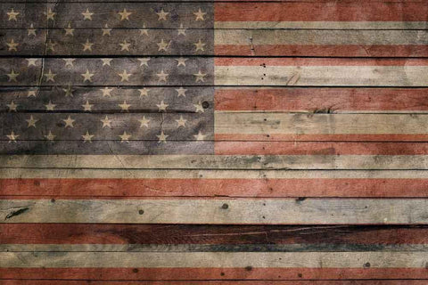 Retro American Flag Independence Day Backdrop for Photography YY00672
