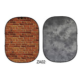 Double-sided Abstract Texture/Brick Collapsible Backdrop  5x6.5ft(1.5x2m) ZA02