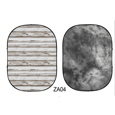 CollapsibleDouble-sided Abstract Texture/Wood  Photo Backdrop  5x6.5ft(1.5x2m) ZA04