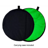 Collapsible Double-sided Green and Blue Photo Backdrop  5x6.5ft(1.5x2m) ZC02