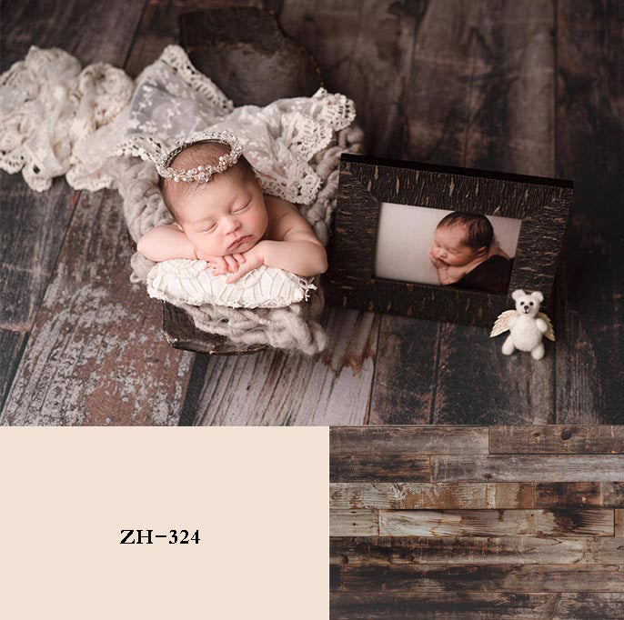 Retro Wood Backdrop Newborn Backdrop for Photography ZH-324