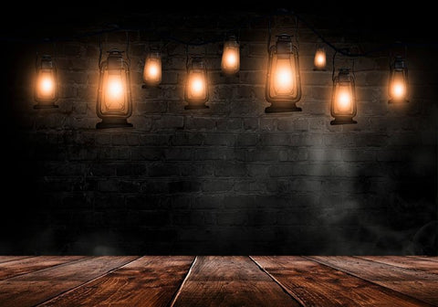 Halloween Backdrops Festival Backdrops Brick Wall Background Kerosene Lamp