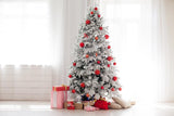 Christmas Tree White Curtain Backdrop for Photo Studio DBD-H19148