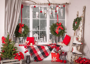 Christmas Decor Room Window Photography Backdrop DBD-H19180