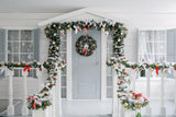 White House Christmas Door Decoration Backdrop for Picture DBD-H19154