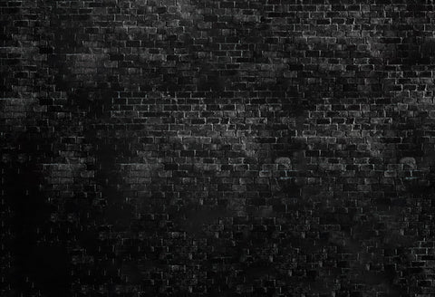 Black Textured Brick Wall Photography Backdrop D-239