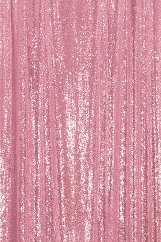 Pink Sequin Farbic Backdrop for Party Wedding Decoration D18