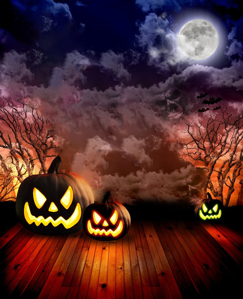 Festival Backdrops Halloween Backdrops Evil Pumpkin Lanterns Background