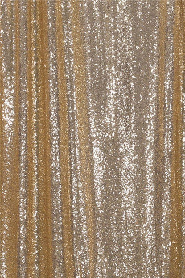 Champagne Sequin Farbic Backdrop for Party Wedding Decoration D29