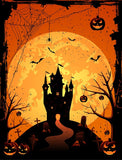Halloween Day Castle Pumpkin Backdrop for Party DBD-P19041