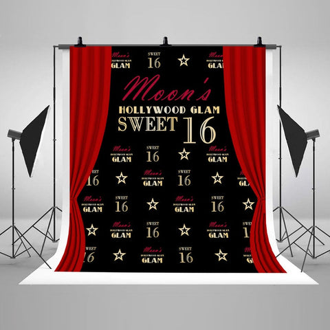 Sweet 16 CUSTOM Backdrop Birthday Banner Photo Booth DBD21