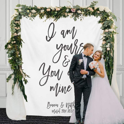 Custom Wedding Backdrop Wedding Reception Calligraphy Backdrop