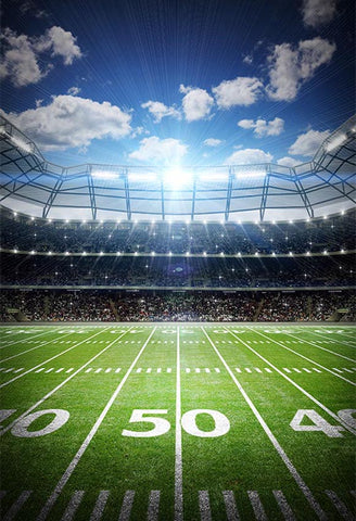 Stadium Football Field Sports Backdrop for Photography LV-030