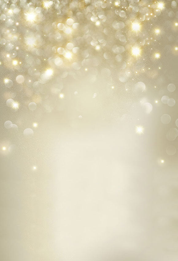 Gold Glitteering Bokeh Backdrop for Holiday Photography LV-058