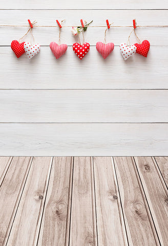 Love Heart Wood Wall Backdrop for Photography LV-1314