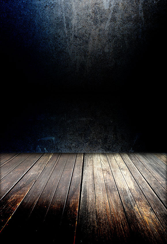 Grunge Wall Texture With Wood Floor Portrait Backdrop LV-1376