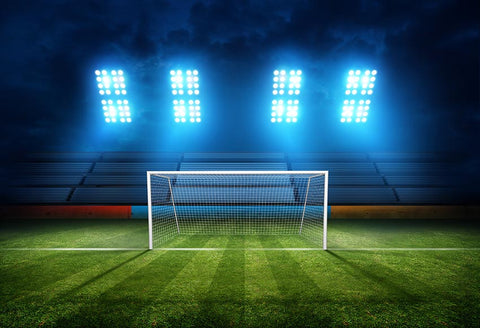 Football Field Goal Net Stadium Lights Photo Backdrop LV-238