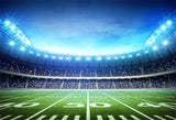 Football Field Stadium Green Grass Lights Photography Backdrop LV-239