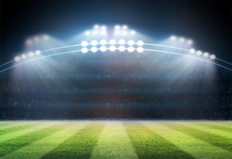 Stadium Green Grass Bokeh Lights Photography Backdrop LV-240