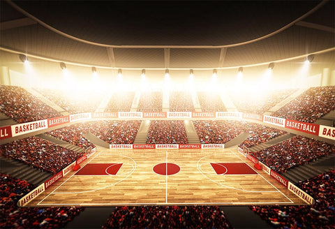Basketball Court Stadium Lights Photo Backdrop LV-312