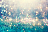 Bokeh  Blue Green Blurry Photography Backdrop LV-641