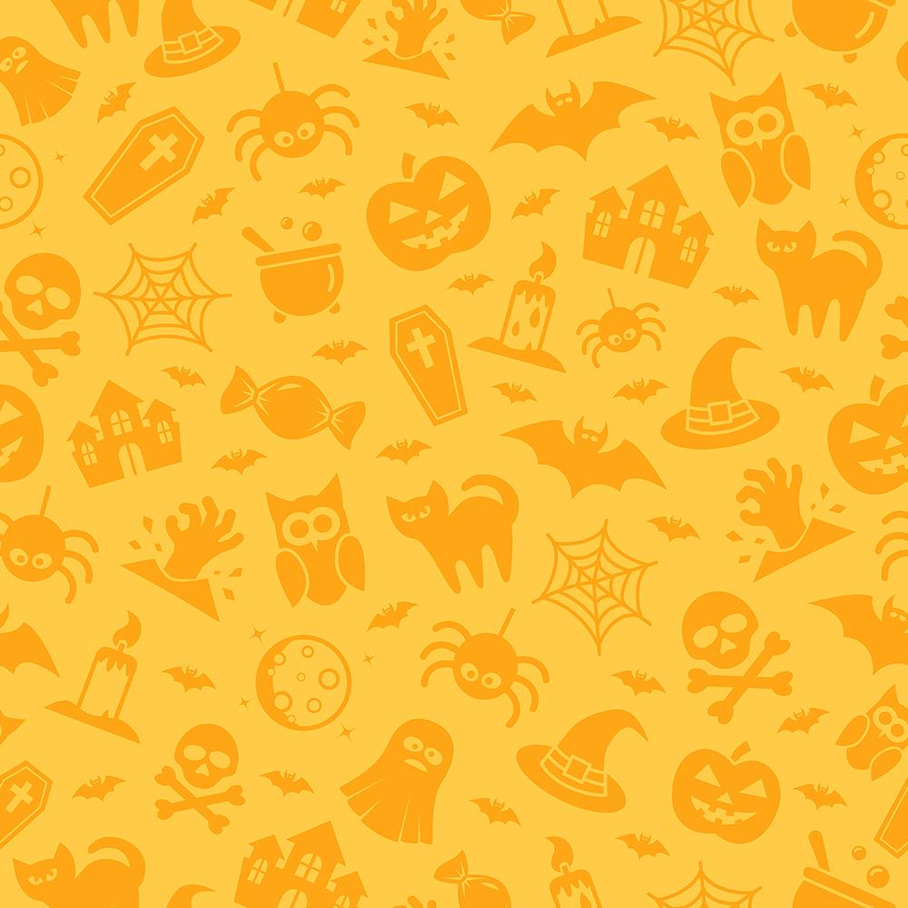 Children Festival Backdrops Halloween Pumpkin Patterned Background