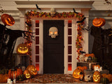 Halloween Pumpkin Lanterns Skull Door Festival BackdropsDBD-H19042
