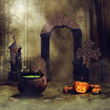 Horrible Forest Pumpkin Halloween Backdrop for Studio DBD-19056
