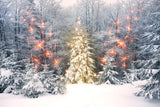 Winter Snow Scenery Forest Photography Backdrop  DBD-H19153