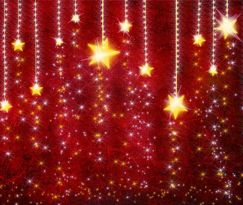 Christmas Twinkle Little Stars Red Backdrop For Portrait DBD-H19202