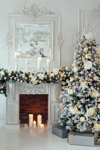 Christmas White Room with Decoration Photography Backdrops DBD-P19188