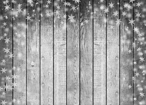 Wood Backdrop With Snowflakes For Photography Portrait DBD-H19150