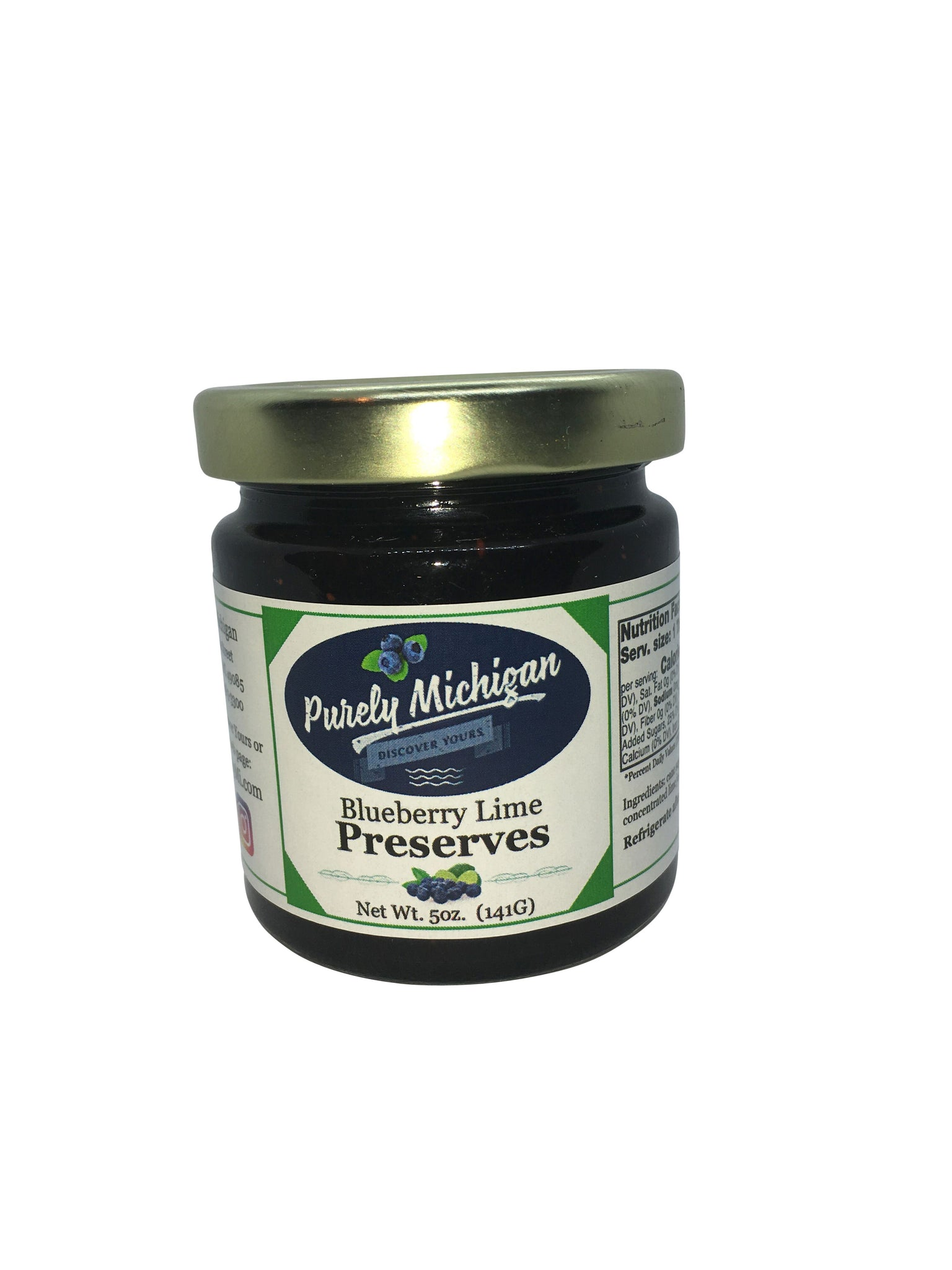 Blueberry Lime Preserves - 5oz