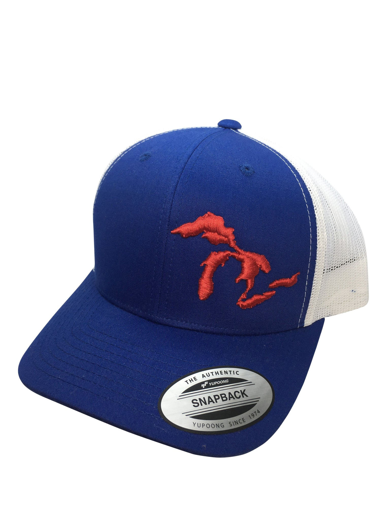 Great Lakes Trucker Hat - Red/White & Blue