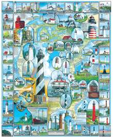 American Lighthouses Puzzle - 1000 pcs