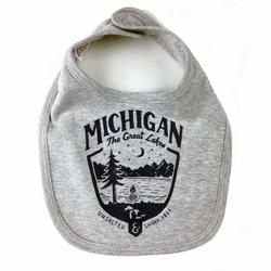 Baby Bib - Michigan Shield