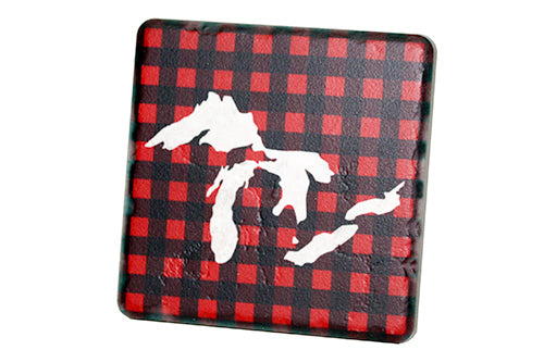 Great Lakes Plaid Coaster