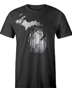BigFoot Forest - Mens T-Shirt - Black