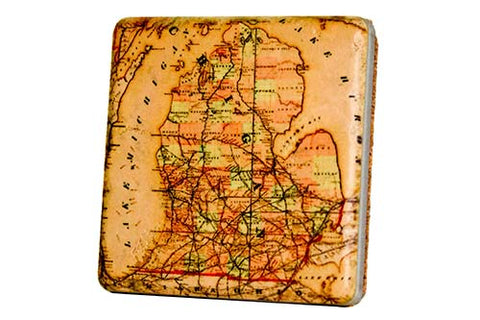 Michigan Map Coaster