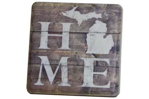 Rustic MI Home Coaster