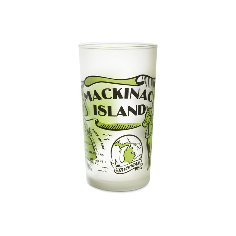 Mackinac Island Frosted Glass