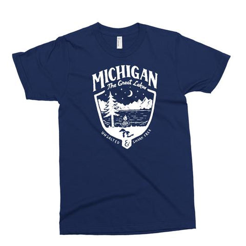 Youth - Michigan Shield T-shirt - Navy