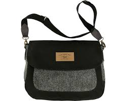 The Companion Purse with HARRIS TWEED - Black
