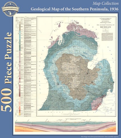 Geological Map of Southern Peninsula Puzzle